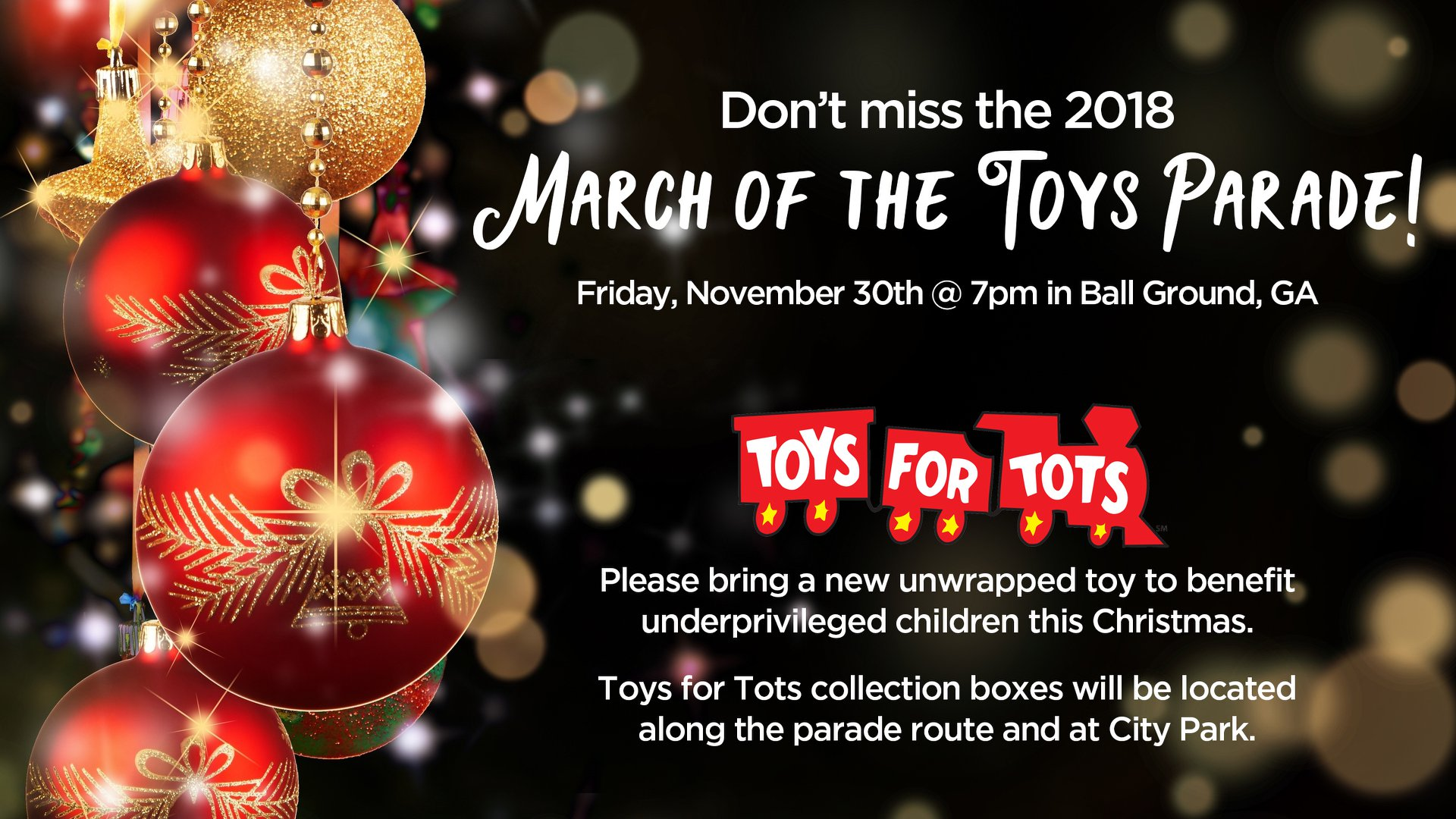 March of the Toys Parade BallGround flyer